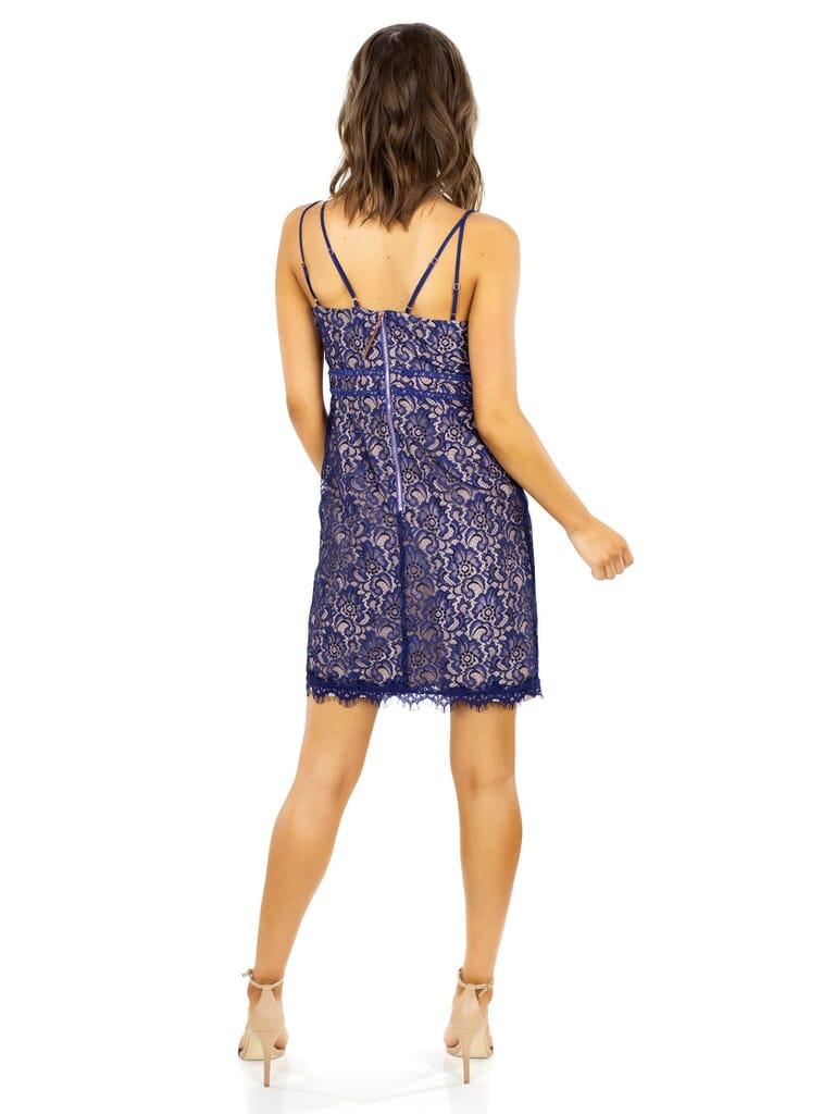 STYLESTALKER Adelie Mini Dress in Neptune
