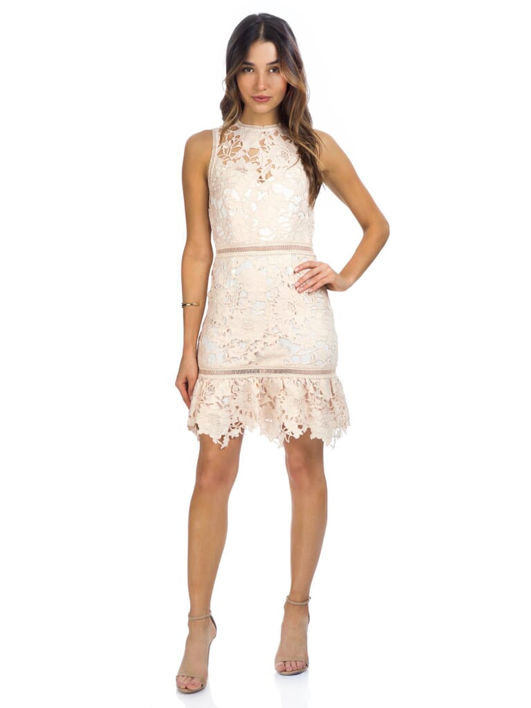 Saylor Adrianna Dress in Rose Gold