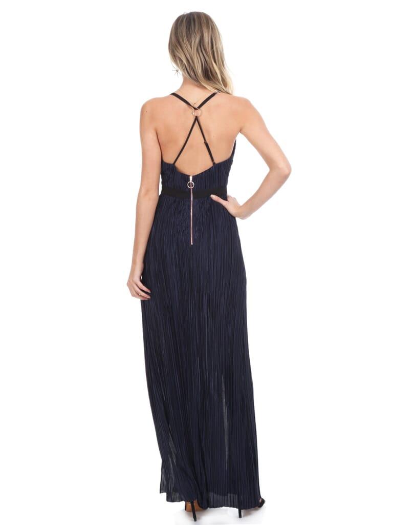 STYLESTALKER Alexa Maxi Dress in Navy