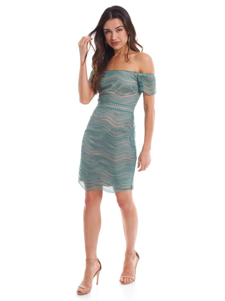 STYLESTALKER Alexander Mini Dress in Jade