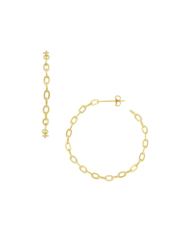 Five and Two Alicia Hoop Earrings in Gold