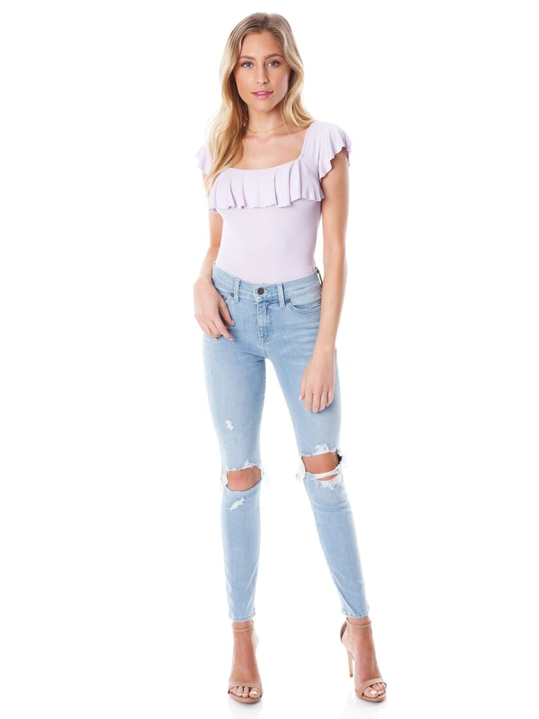 PISTOLA Aline High Rise Skinny Jeans in Not Mine/Light Blue