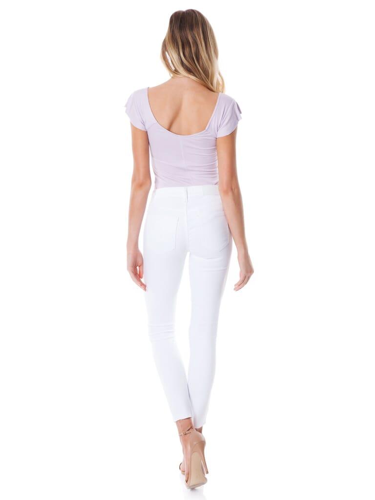 PISTOLA Aline High Rise Skinny Jeans in White Ferrari
