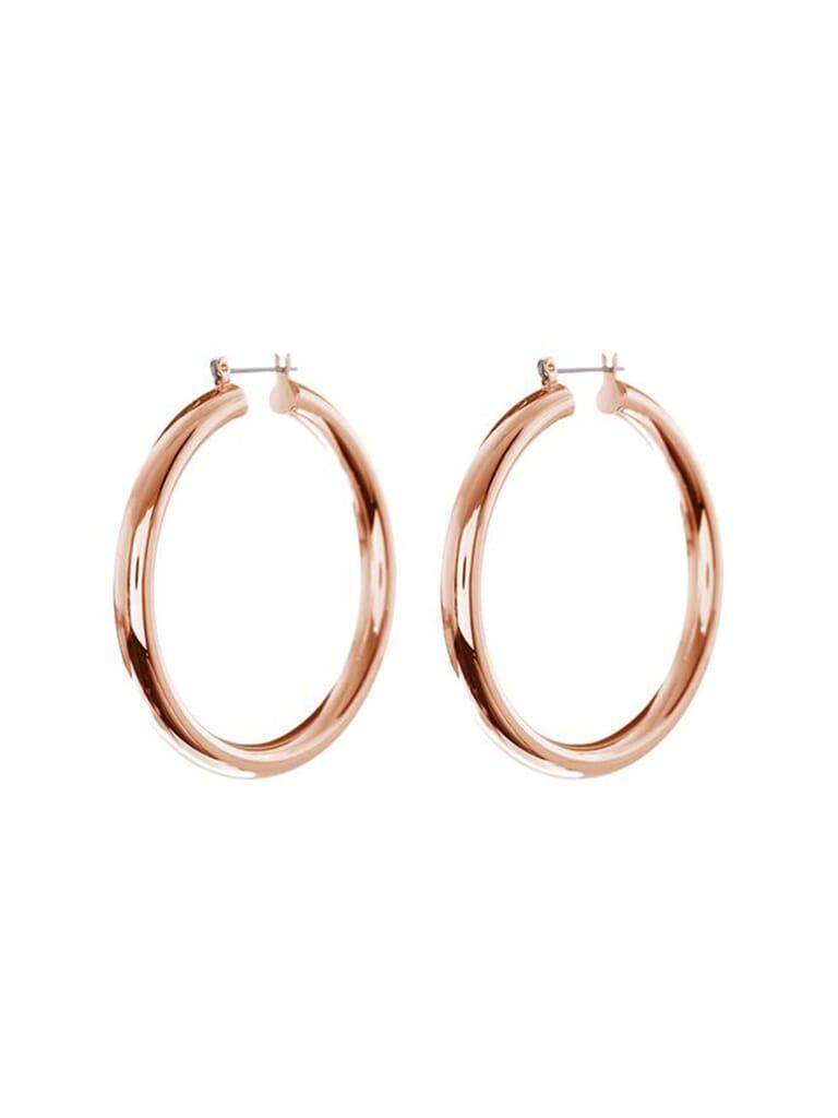 LUV AJ Amalfi Tube Hoops in Rose Gold