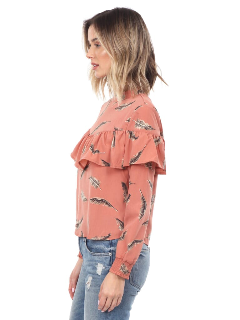 LOST + WANDER Amber Top in Coral