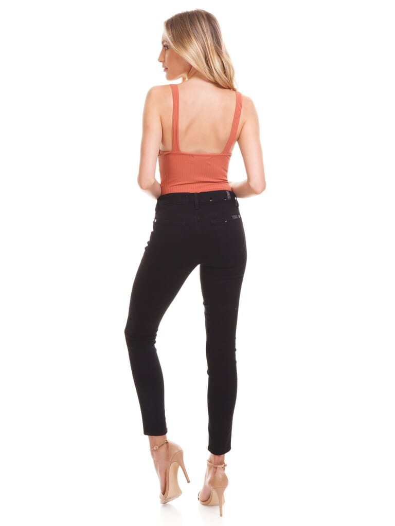 MINKPINK Andalusia Tie Front Bodysuit in Masala