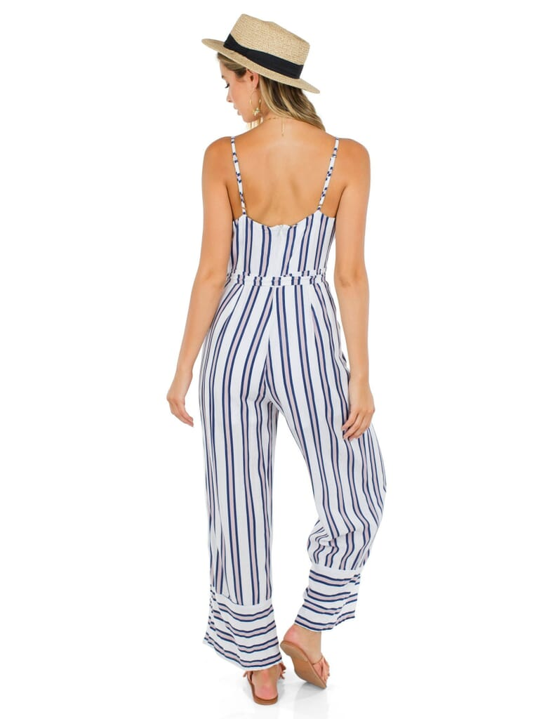 FashionPass Andes Jumpsuit in Navy/White/Pink Striped
