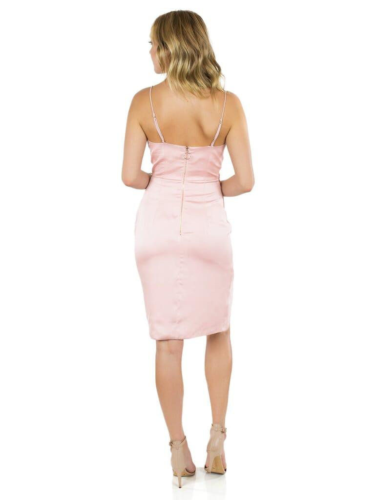 STYLESTALKER Anja Midi Dress in Dusty Pink