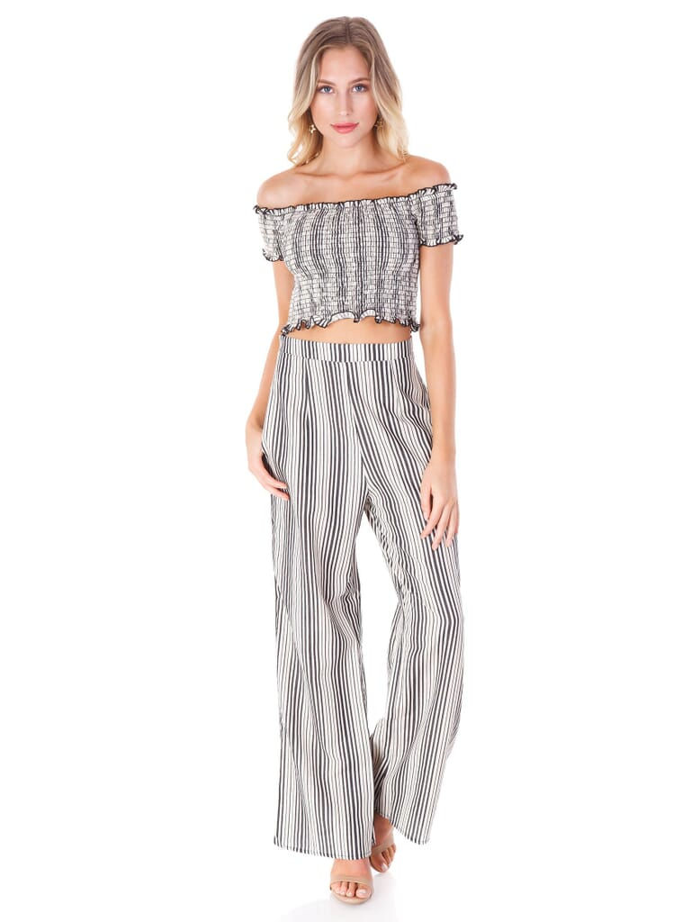 Show Me Your Mumu Archie Trousers in Highway Stripe Flux