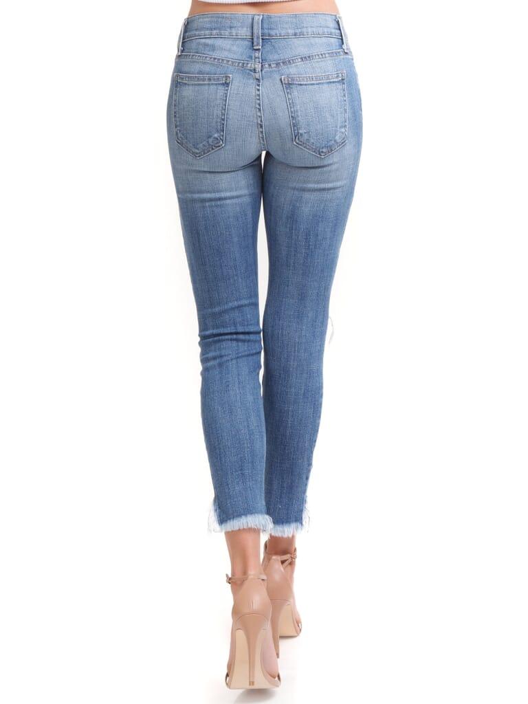 PISTOLA Audrey Distressed Crop Jeans in Santa Cruz