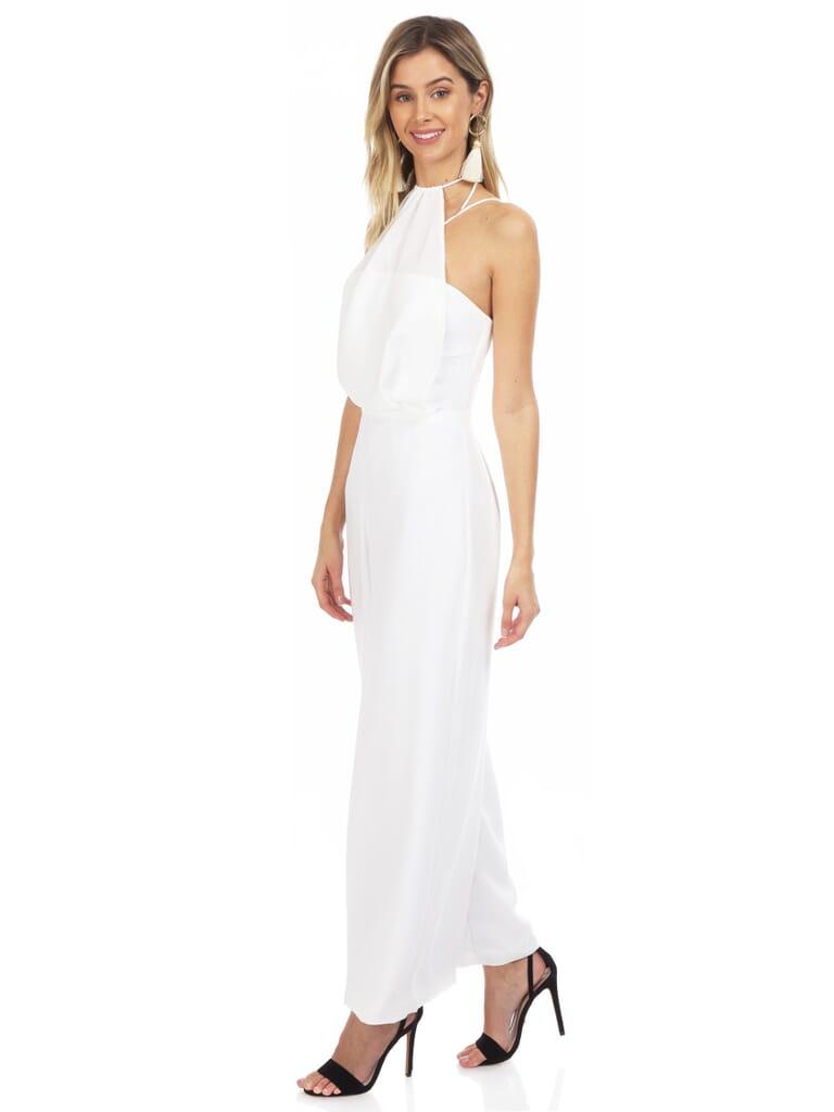 STYLESTALKER Audrina Jumpsuit in White
