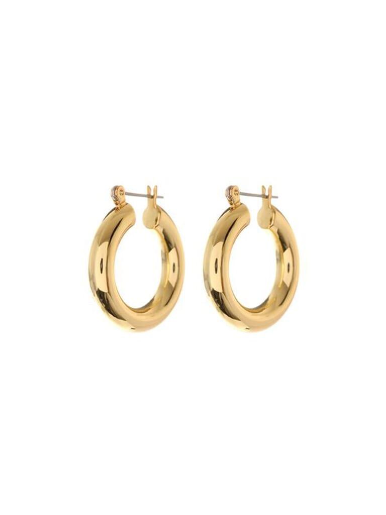 LUV AJ Baby Amalfi Tube Hoops in Gold