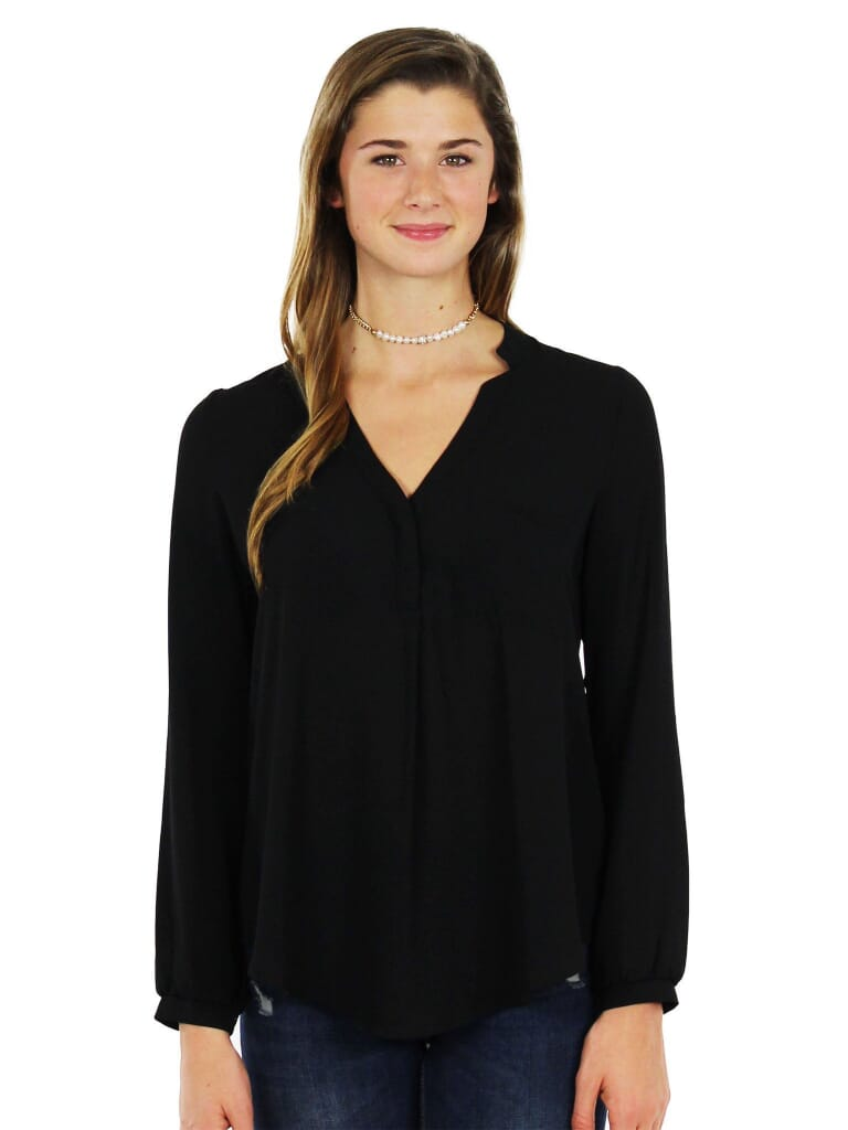 Lush Back To Basics Tunic in Black