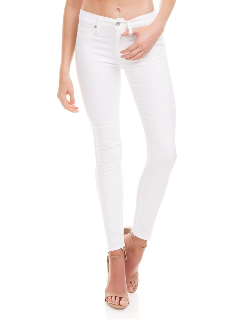 7 For All Mankind B(Air) Skinny Ankle Jeans in White