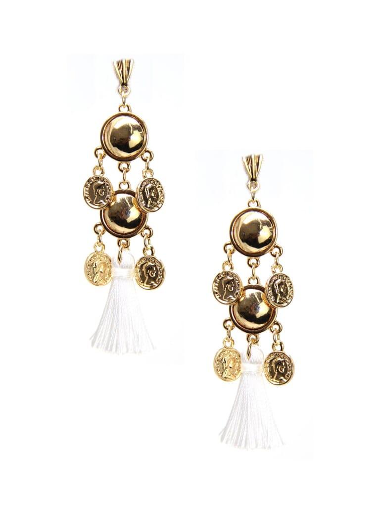 Ettika Battlefield Earrings in Gold