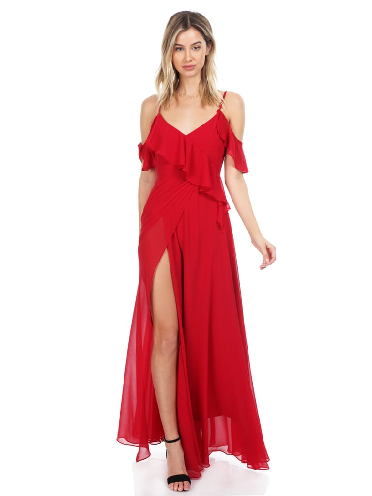 YUMI KIM Because Of You Maxi Dress in Red