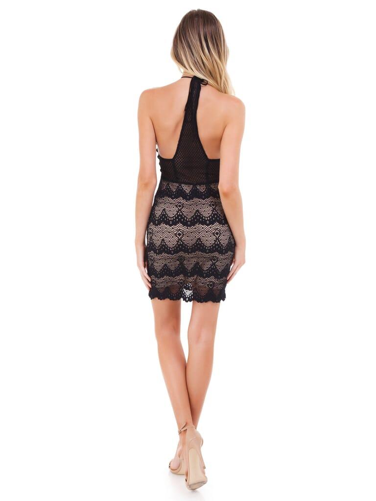 Nightcap Clothing Belle Nuit Mini Dress in Black