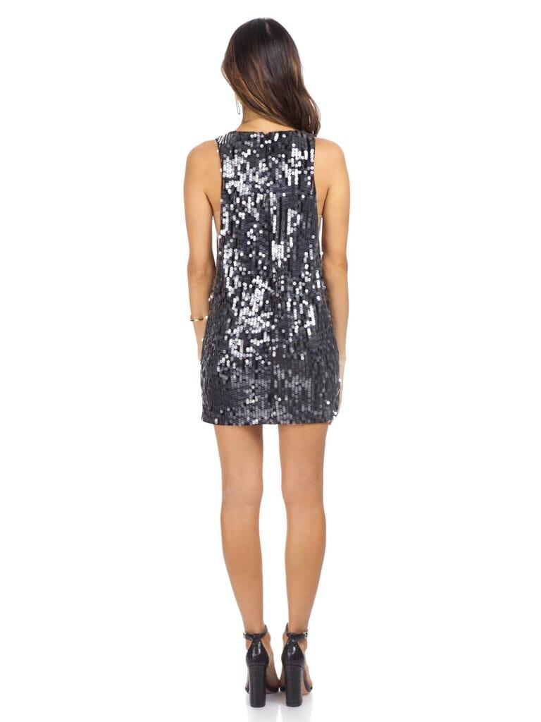 NBD Bexley Dress in Black Sequin