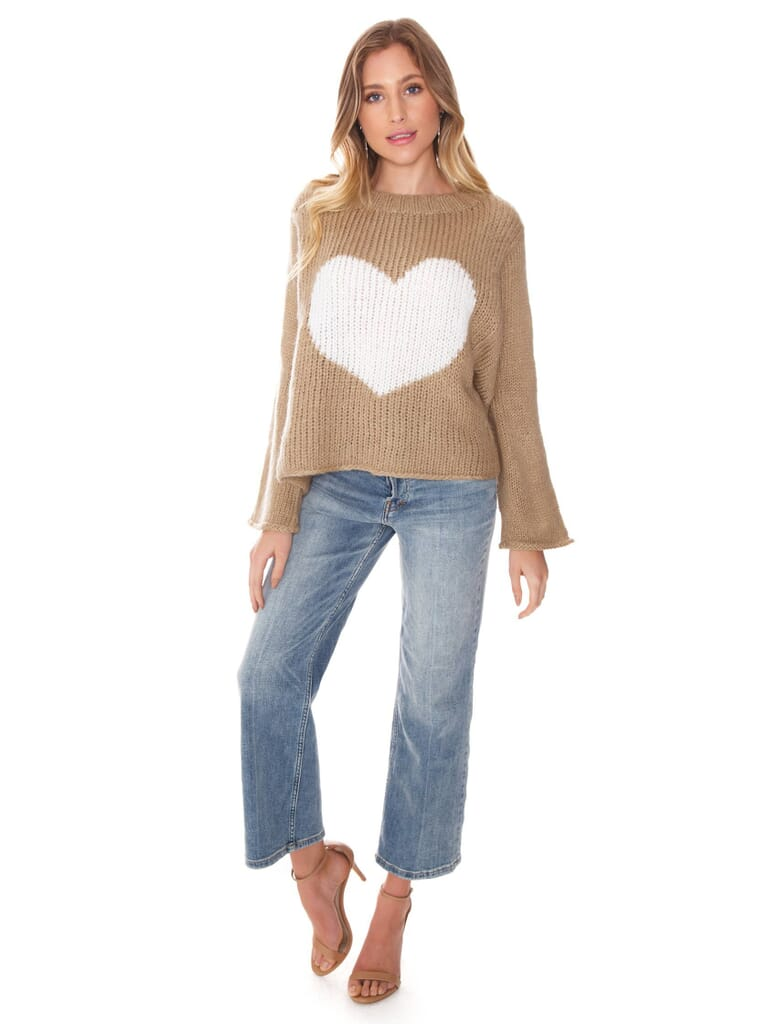 Wooden Ships Big Heart Sweater