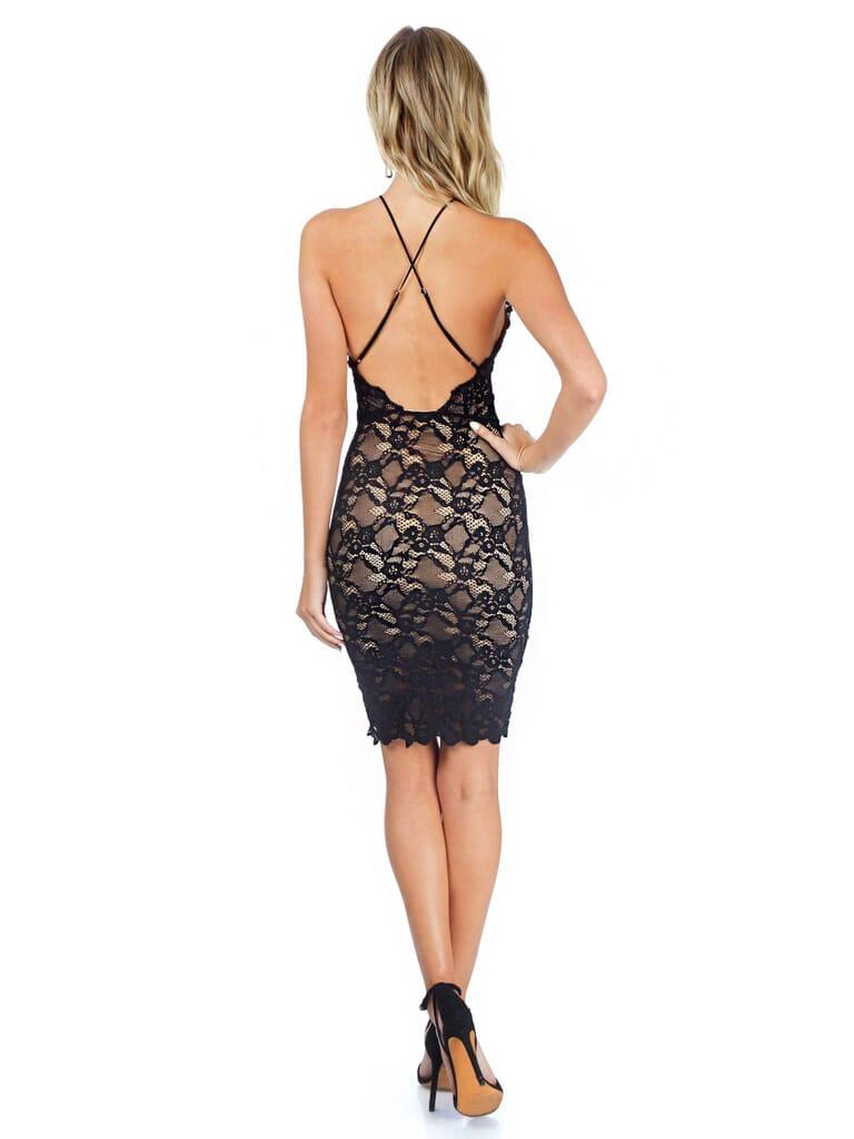 Nightcap Clothing Black Drive Me Home Mini Dress in Black