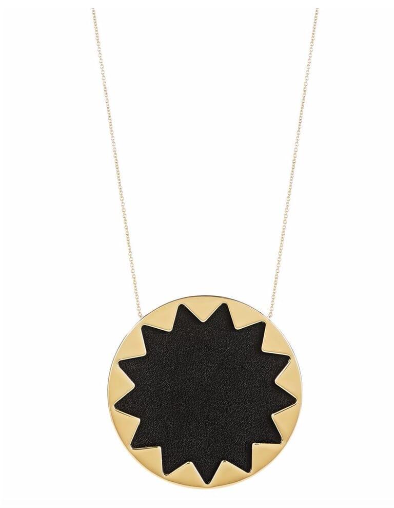 House of Harlow 1960 Black Large Sunburst Necklace in Black