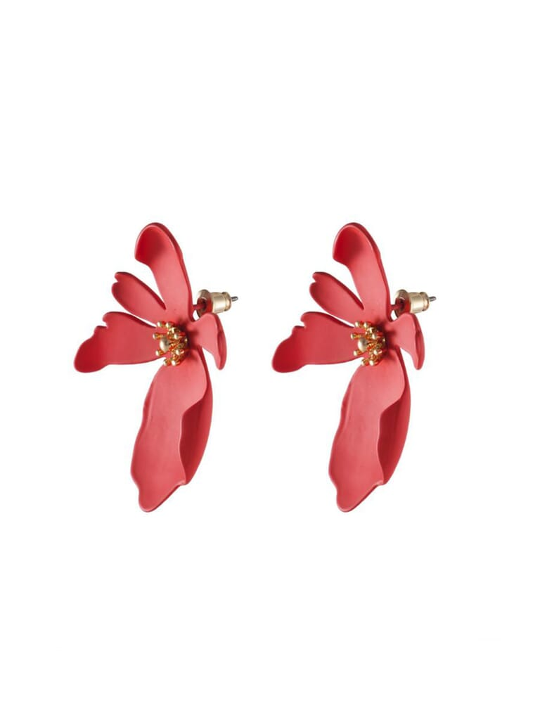 Wanderlust + Co Camilla Red Earrings in Red