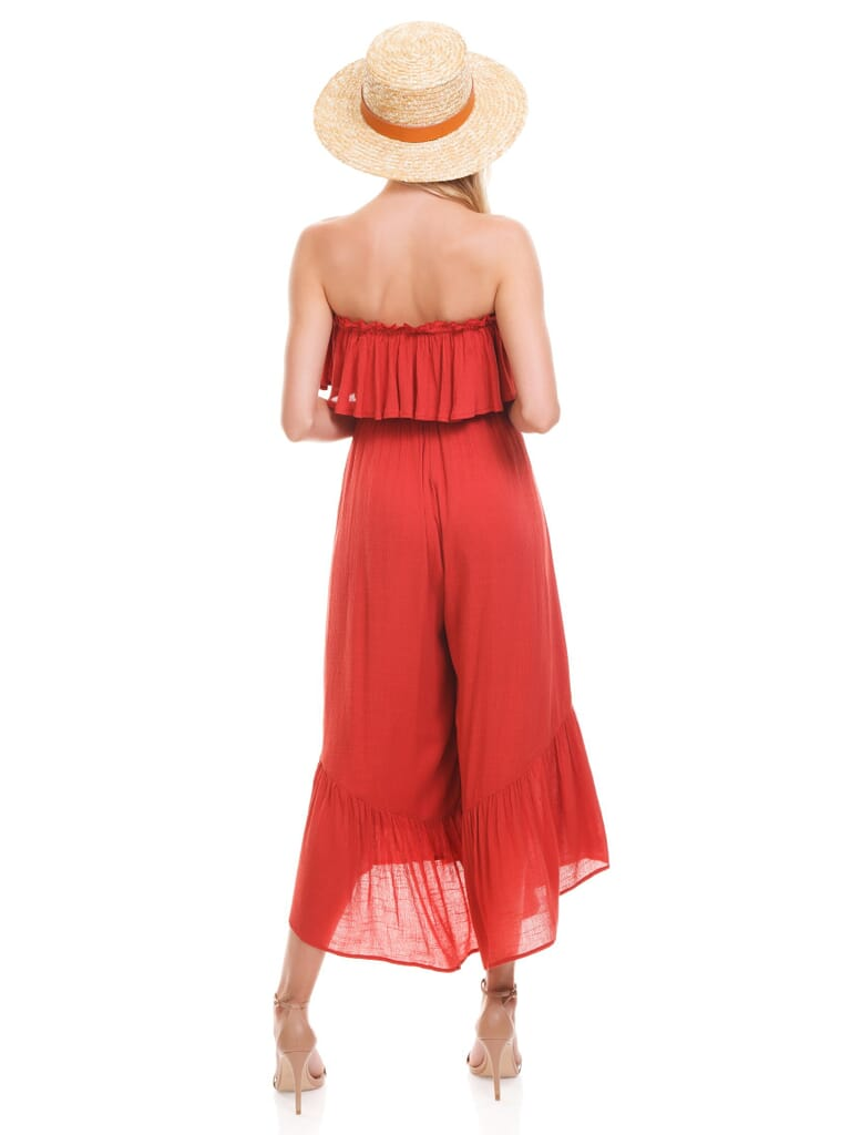 Lush Canyon Rose Cropped Jumpsuit in Canyon Rose