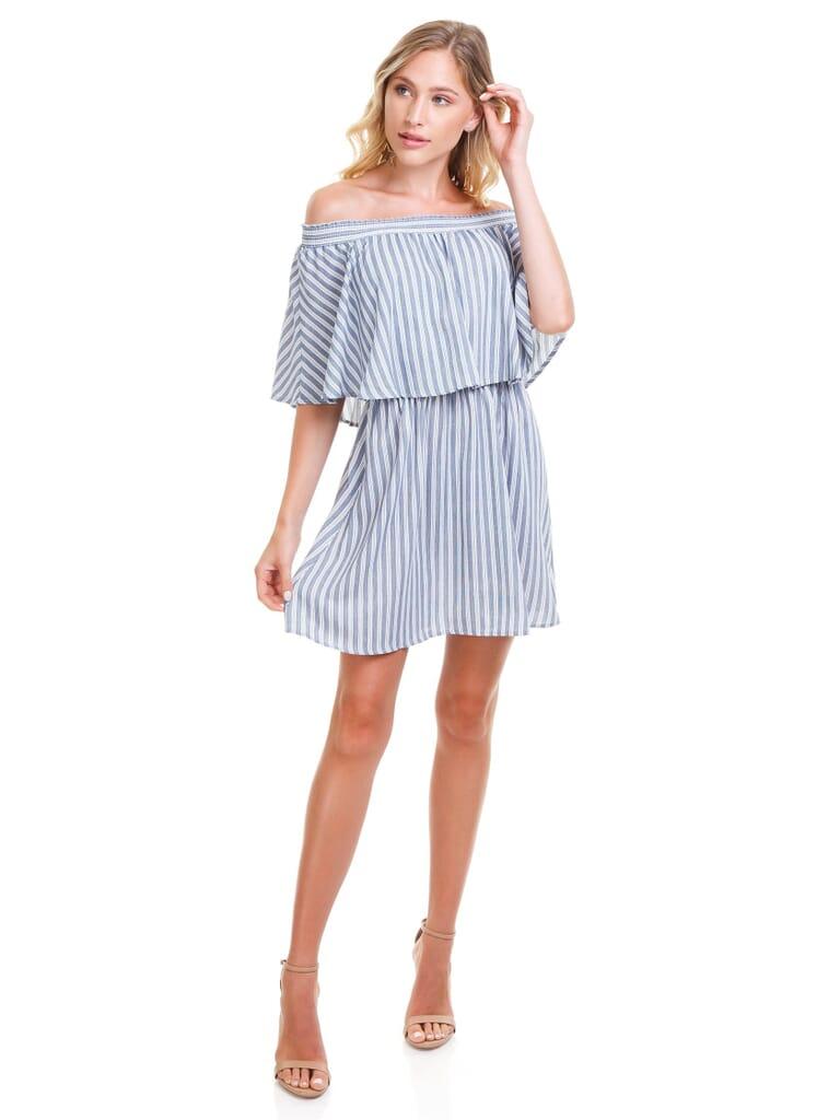 Show Me Your Mumu Casita Mini Dress in She Sails Stripe Flux