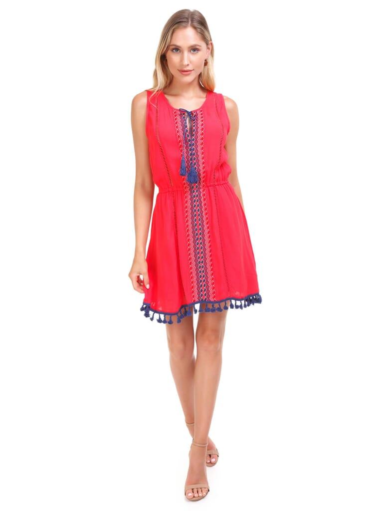 BB Dakota Cateleya Dress in Hibiscus Red
