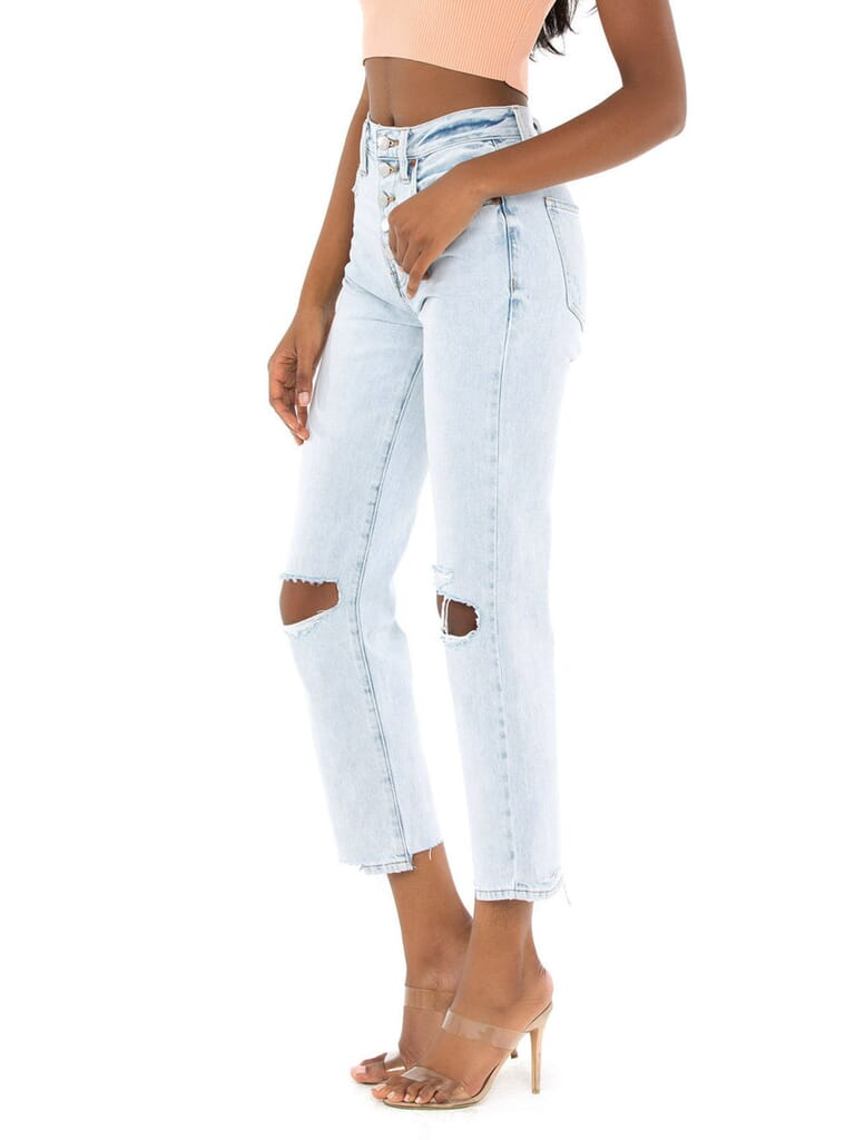 PISTOLA Charlie High Rise Straight Jeans in Granada