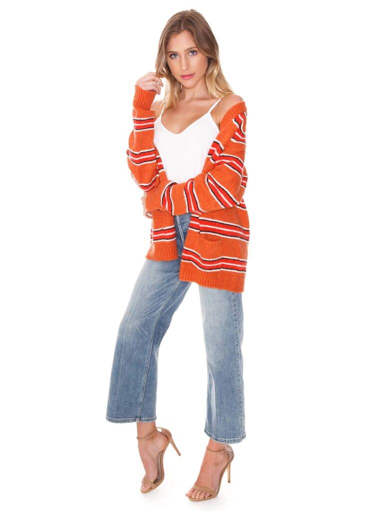 For Love & Lemons Charlie Striped Sweater in Stripe