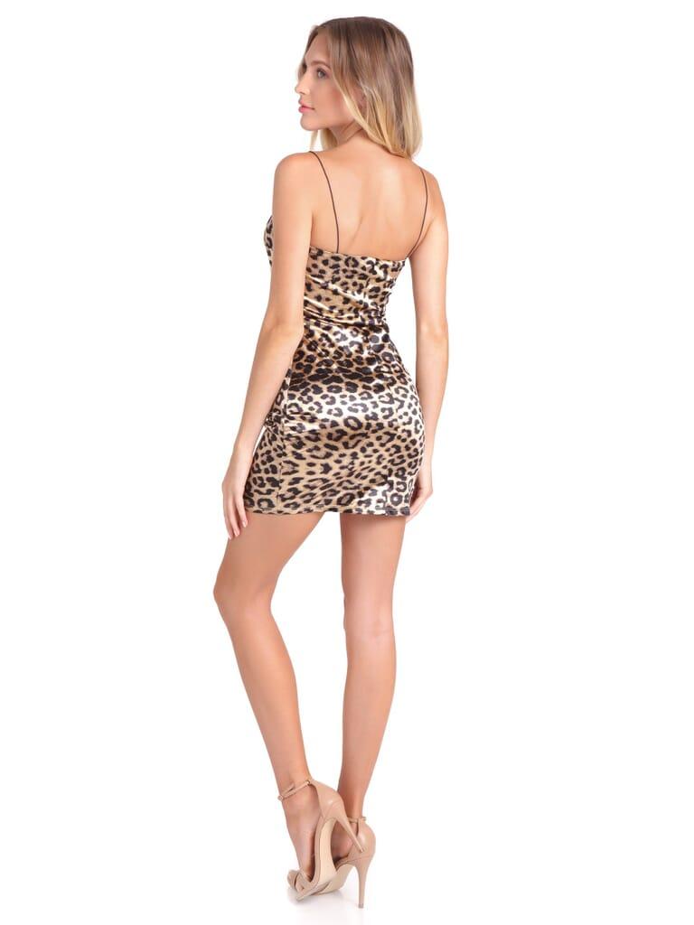 FashionPass Cheetah Girl Mini Dress in Cheetah