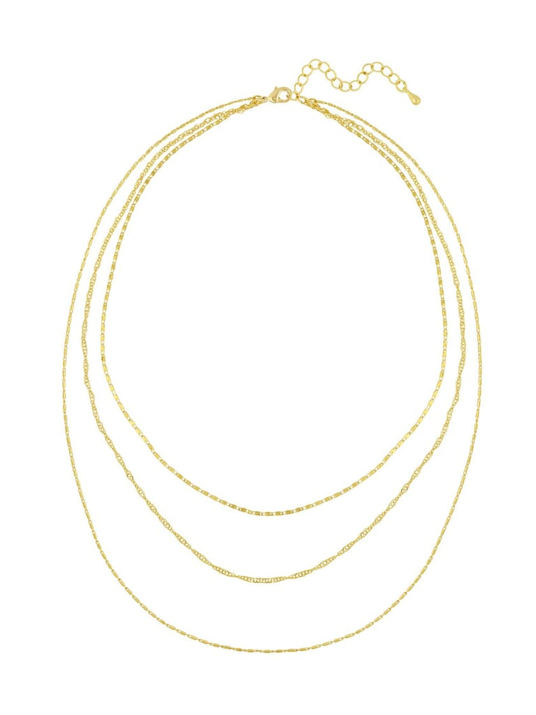 Five and Two Cher Layered Necklace in Gold