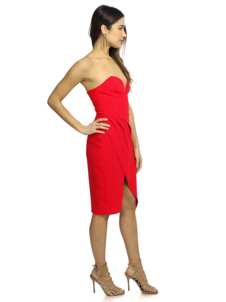 Amanda Uprichard Cherri Dress in Scarlet