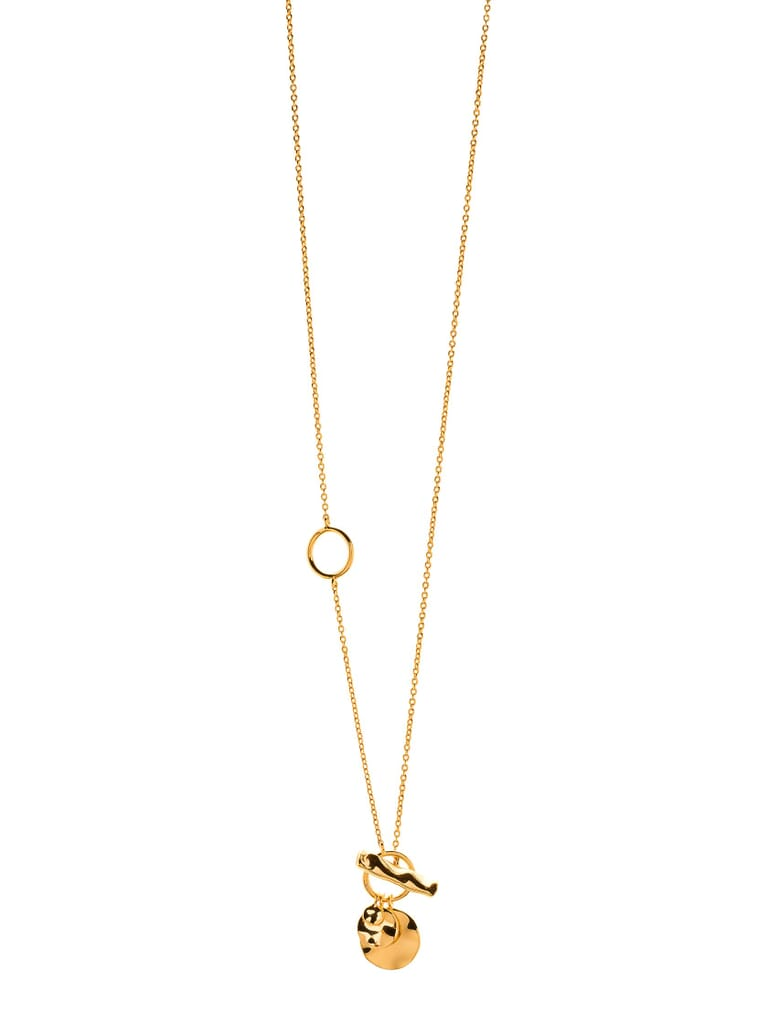 Gorjana Chloe Small Toggle Versatile Necklace in Gold