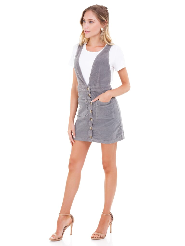 Show Me Your Mumu Connelly Overall Dress in Stretch Corduory Coastline