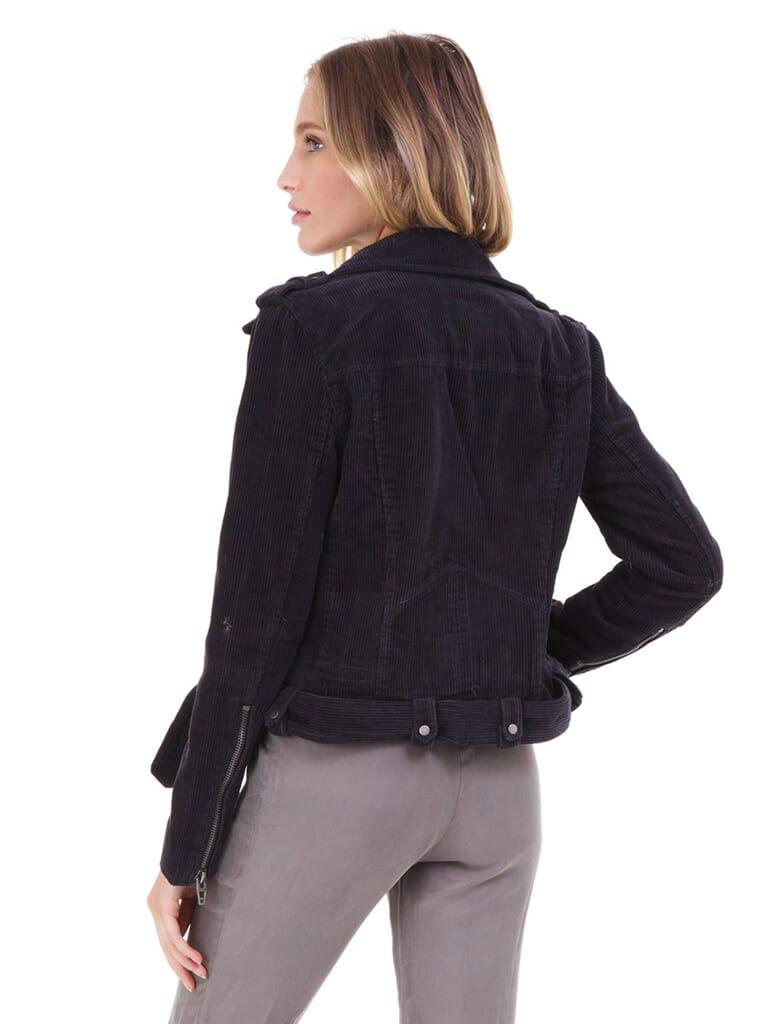 BLANKNYC Corduroy Moto Jacket in Twilight Zone