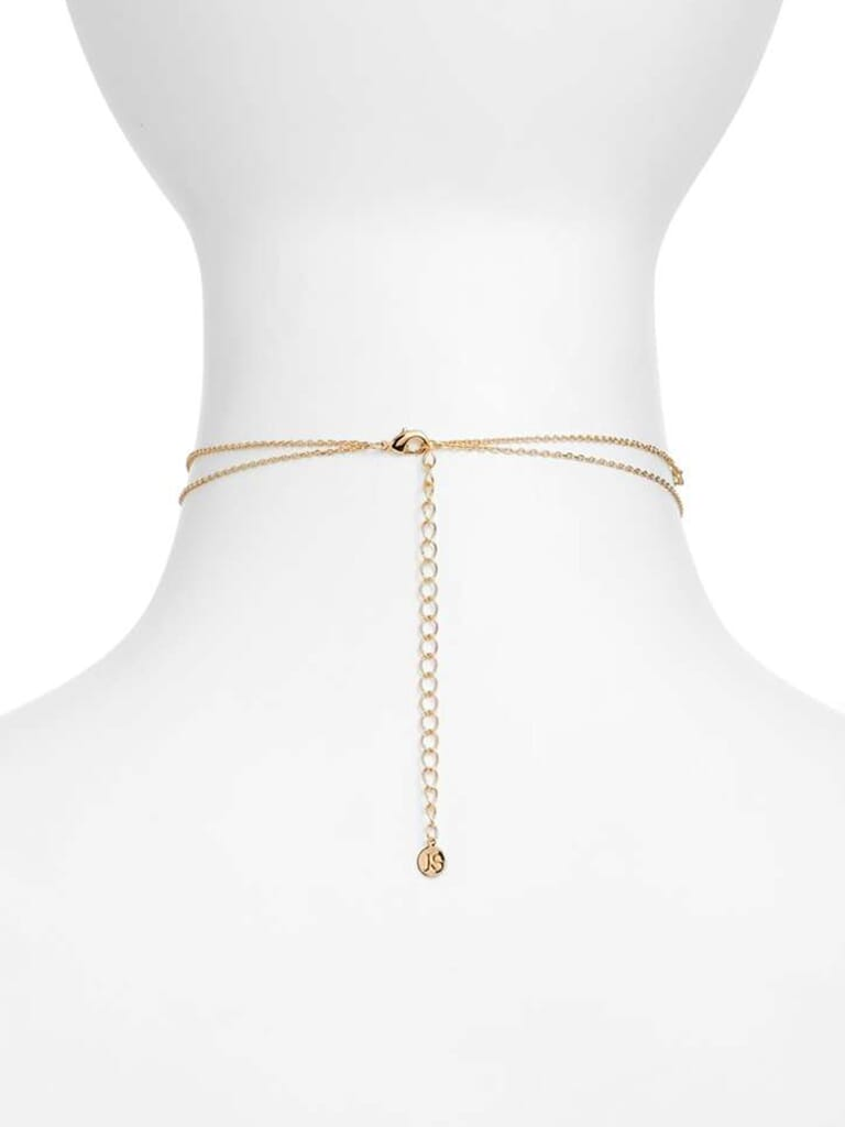 Jules Smith Crimson Chain Choker in Gold