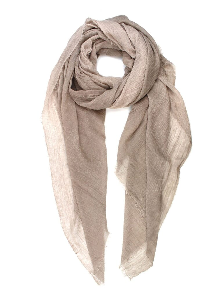 Michael Stars Crinkled And Cozy Wrap Scarf in Chalk