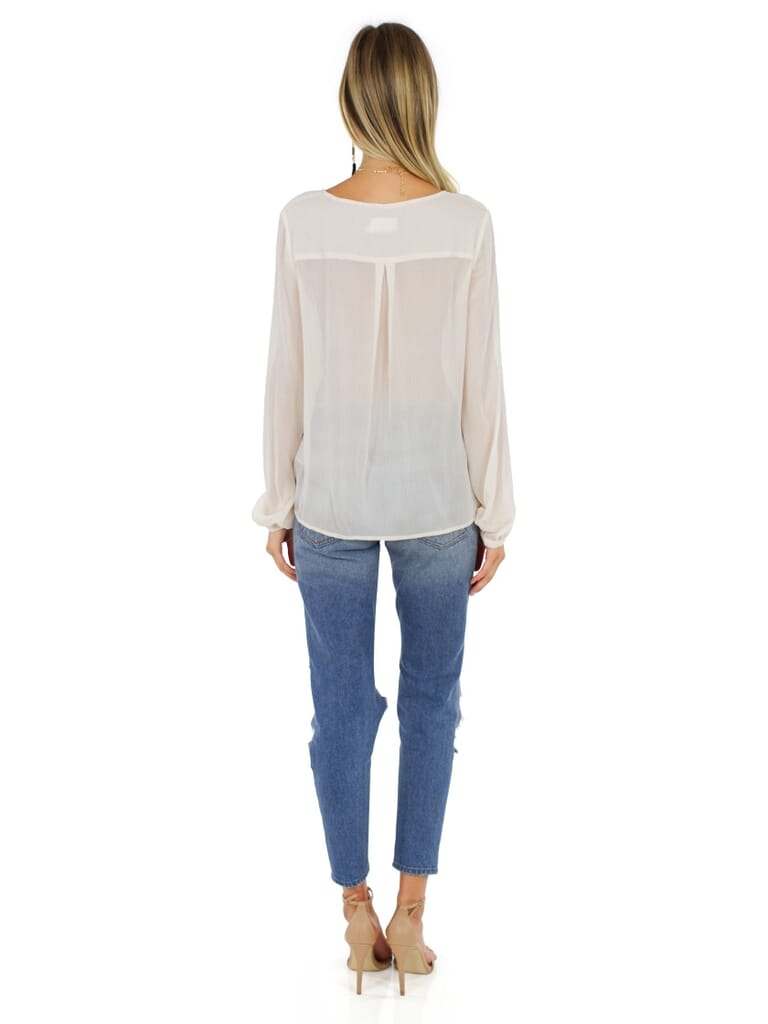 The Jetset Diaries Cruise Surplice Top in Champagne