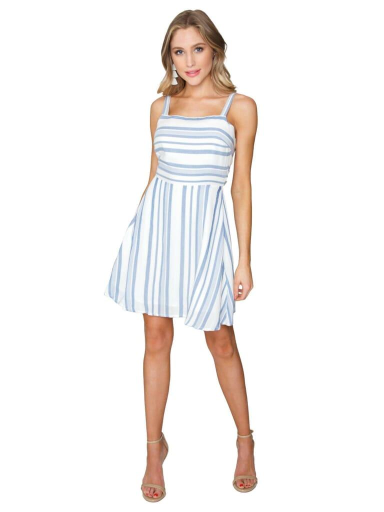 LOST + WANDER Daiquiri Mini Dress in Blue