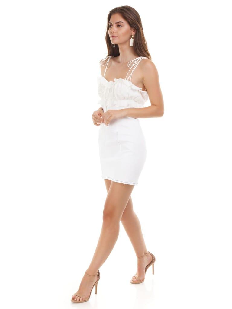 For Love & Lemons Daria Denim Mini Dress