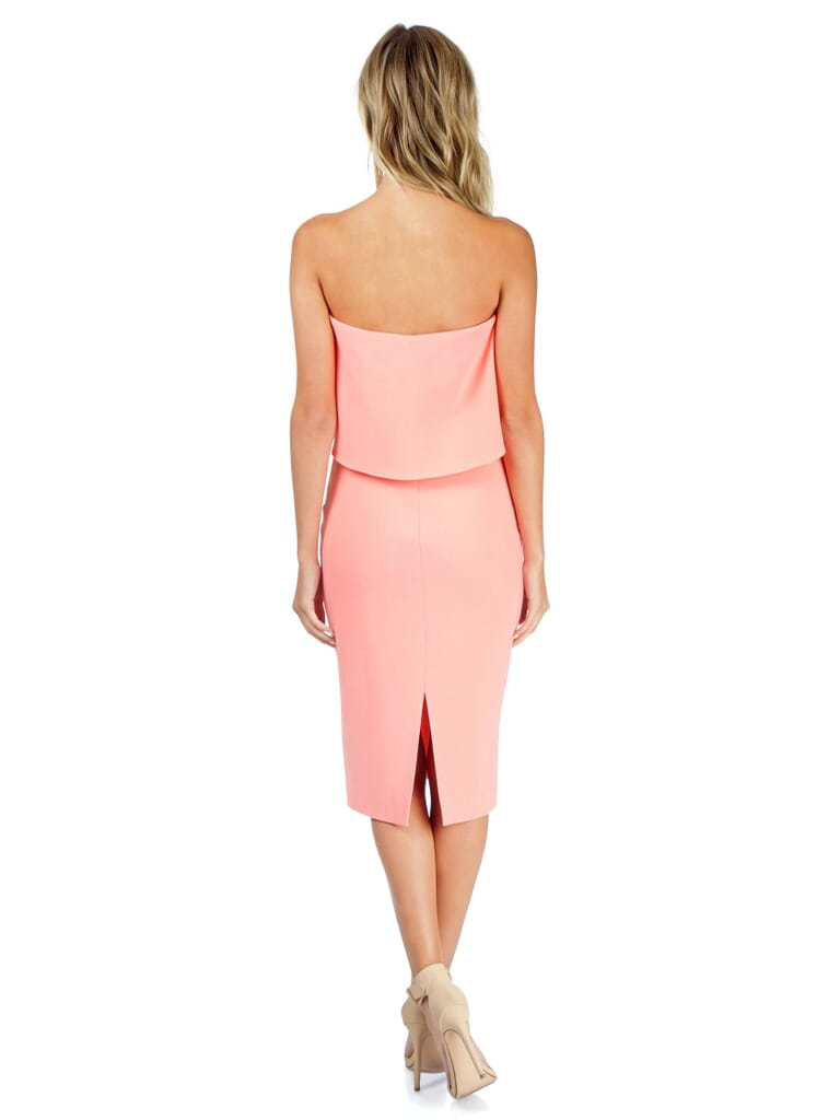 LIKELY Driggs Dress in Apricot