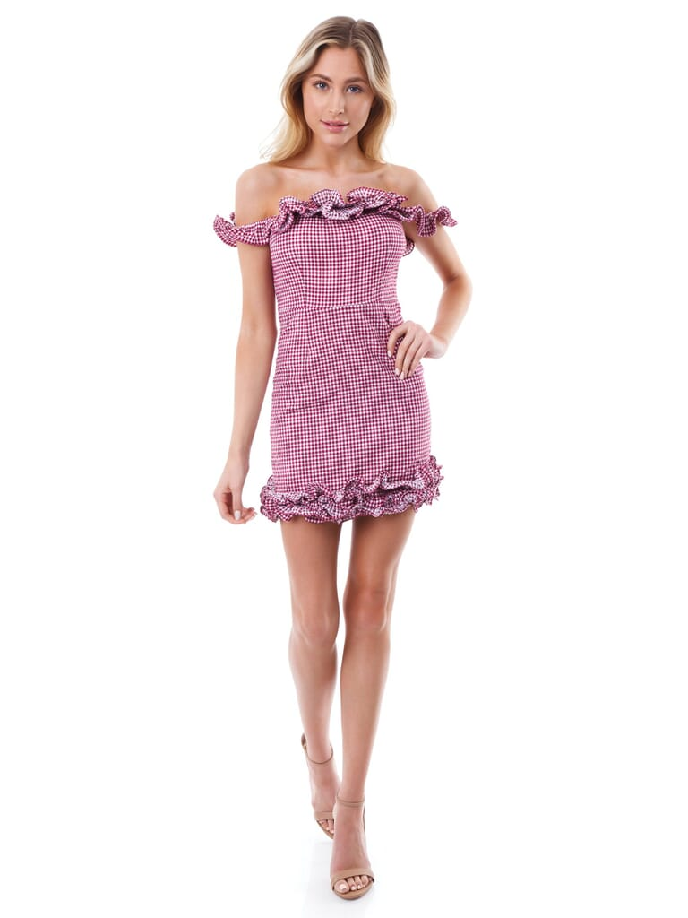 Lovers + Friends Dustin Mini Dress in Magenta