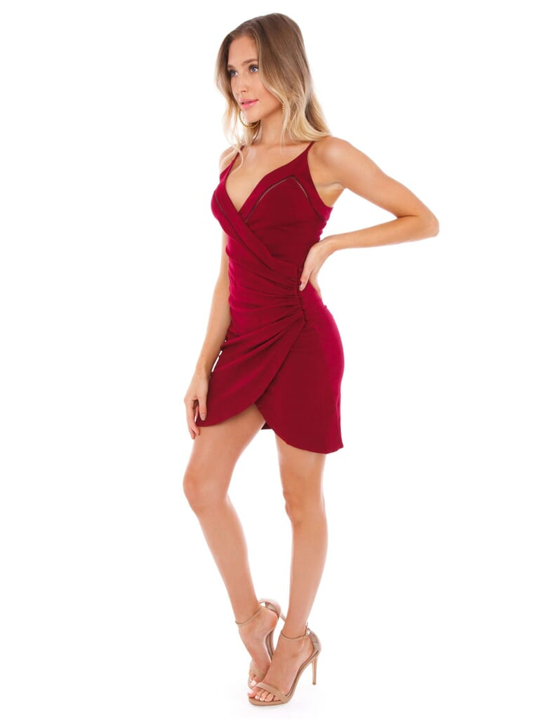 Free People Dylan Bodycon in Wine