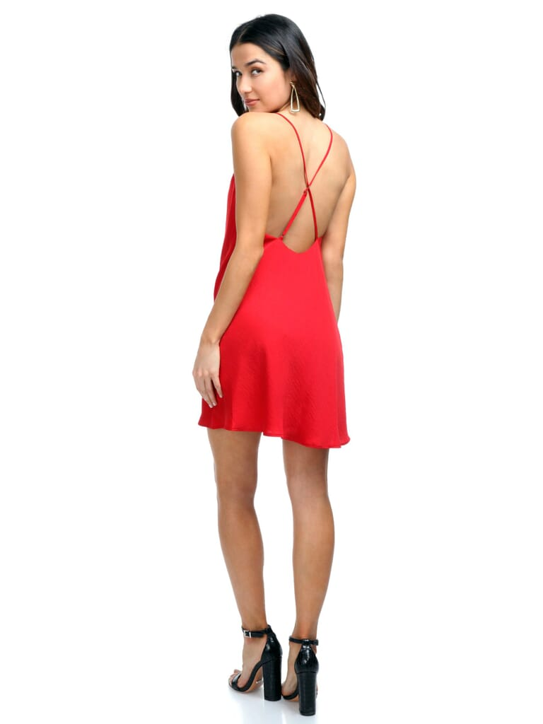 The Jetset Diaries Ellil Cowl Dress in Ruby