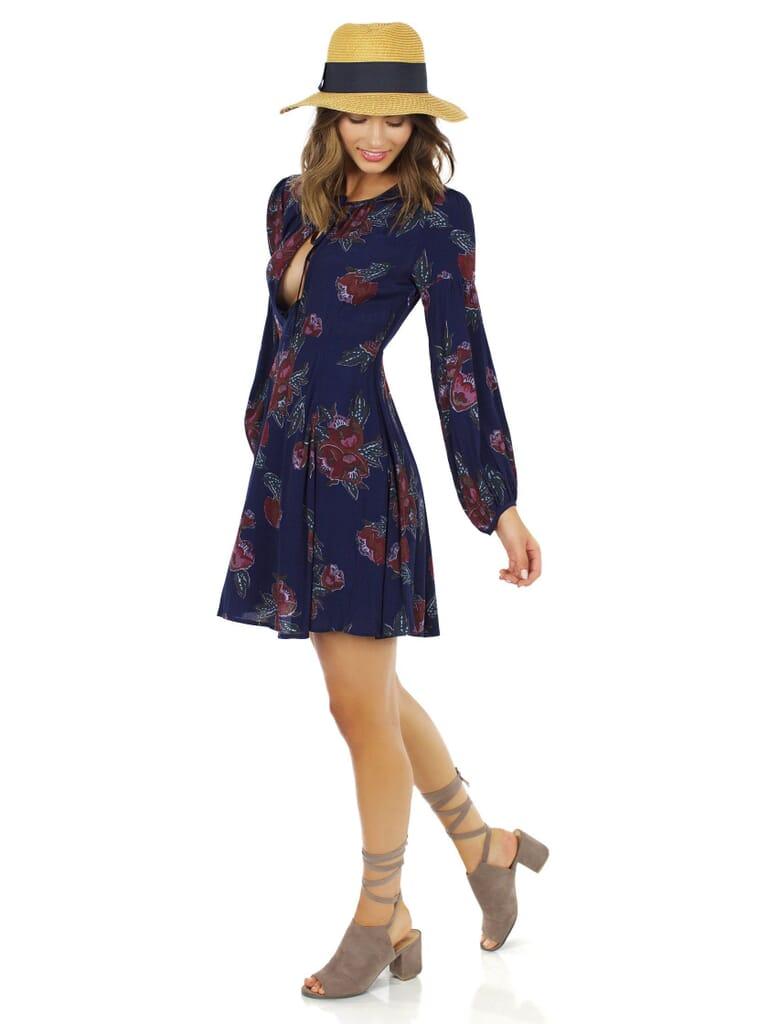 ASTR El Dress in Navy Multi Floral