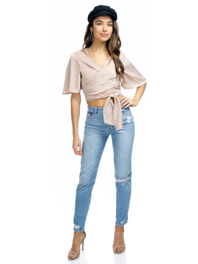 FashionPass Everleigh Crop Top in Beige