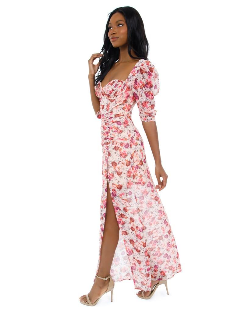 For Love & Lemons Evie Maxi Dress in Tea Rose