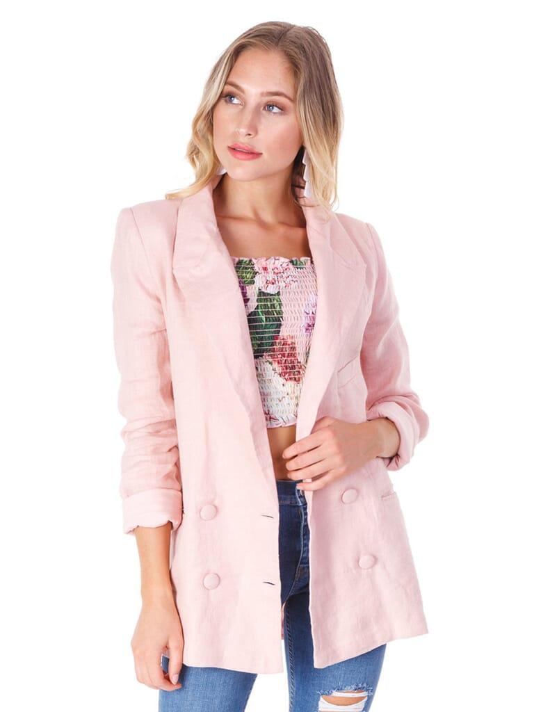 Lovers + Friends Fanning Blazer in Pink